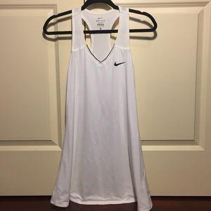 Nike dry fit white tennis dress